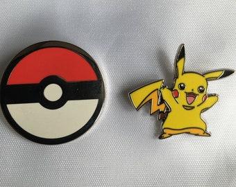 Metal Pin Back Ash Ketchum Game Pokemon Badge /'Pokeball Pixel Art/' Funny Gift 38mm Badge TV Show Pokemon Gift Pikachu