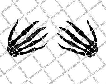 Bedazzled Skeleton Hand Boob Grab