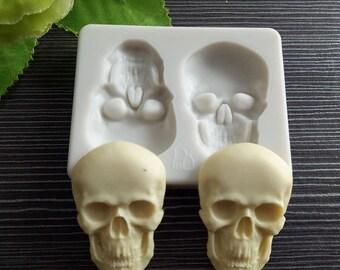 Halloween Moulds Skull Skeleton Silicone Human Fondant Cake Mold For Cupcake