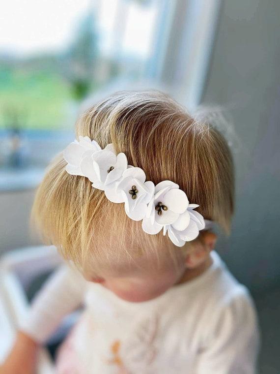 Newborn headband-Flower headband Props headband Newborn flower Newborn baby girl Props headband Newborn hair Baby girl headband