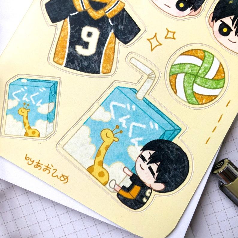kageyama tobio haikyuu karasuno anime sticker sheet vinyl