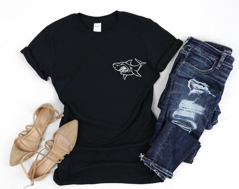 Shark Pocket TShirt Shark Pocket T Shirt Shark Shirt Shark Shirts Shark Pocket Tee Shark Pocket Shirt Shark Pocket Shirts