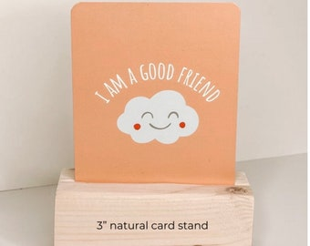 Wooden, Natural Card Stand For Affirmation Cards, Photos, Business Cards.