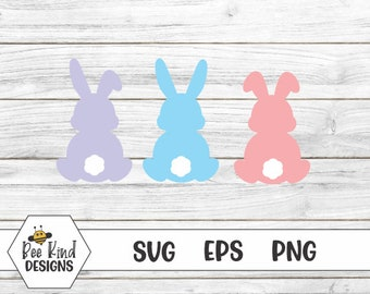 Bunny Behinds Design  Bunny Butts  Easter svg  Bunny svg  Animal Humor  Easter Bunny  Cottontail Rabbits