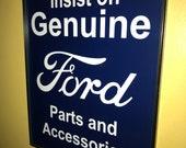 Ford FoMoCo GenParts Motors Auto Car Garage Framed Advertising Print Man Cave Sign
