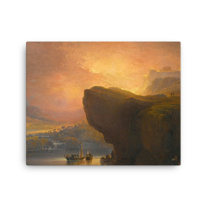 John Martin 1851 Spiritual Canvas Print The City of God and the Waters of Life