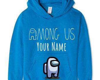 Enderman style hoodie personalised kids hooded top make it mine craft your name