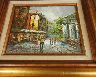 Margaret Hyatt Kressley Impressionist Oil Painting~Paris Cityscape