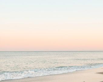Sunset Calming Ocean Water NAUSET BEACH Cape Cod Photography, Un-Framed Photo, Beach Sunset Photo, Seascape Coastal Decor, Nautical Wall Art