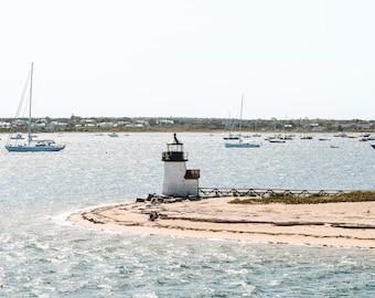 Brant Point Lighthouse Nantucket Photography Un-Framed 8x10 Photo Print, Cape Cod Art, New England Coastal Decor, Nautical Wall Art