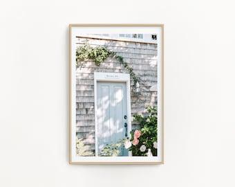 Door Photography Nantucket Island Un-Framed 8x10 Photo Print, Cape Cod Art, Blue Door Print, New England Coastal Decor, Nautical Wall Art