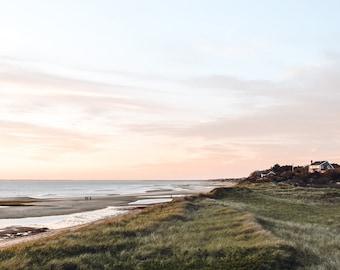First Encounter Beach Sunset Cape Cod Photography, Un-Framed Photo Print, Cape Cod Wall Art, Pastel Sunset Print, Beach House Decor