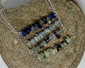 Bar Necklace, Choose Your Own Gemstone, Necklace Gift