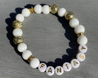 SF9 Gemstone Stretch Beaded Bracelet
