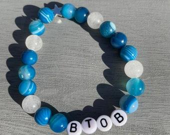 BTOB Gemstone Stretch Beaded Bracelet
