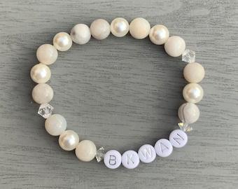 A.C.E Siren:Dawn Gemstone Beaded Stretch Bracelet