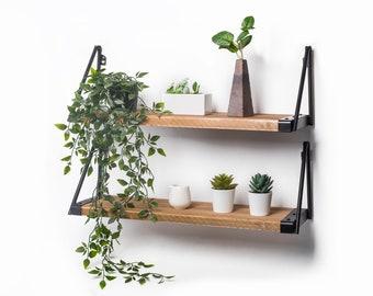 Wandregal, Wandboard Holz,Hängeregal,2erSet 60x18x20cm handgefertigt als Schweberegal,Bücherregal,Küchenregal, wall shelf