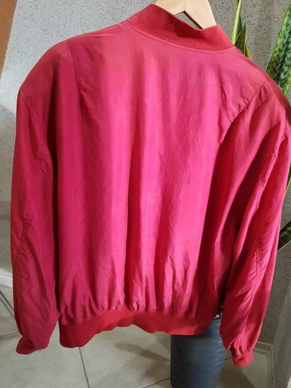 Vintage 90s Bomber Jacket Mens M, Silk Bomber, Me… - image 4