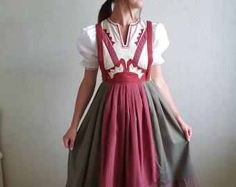 Vintage  dress, vintage pinafore, cotton sleeveles dress , handmade dress, pinafore, patchwork dress