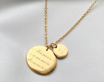 Name Schmuck Eigener Buchstaben Personalisierter Geschenk Edelstahl Halskette
