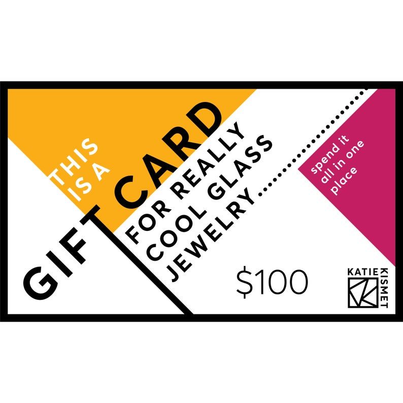 Gift Under 100 Katie Kismet Gift Certificate Jewelry Gift Card Printable Gift Quick No Shipping Gift