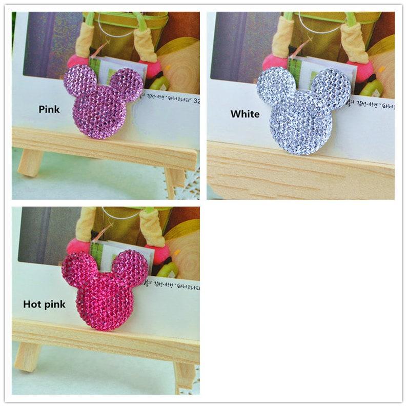 5102050pcs Resin mouse Crafts Flatback Cabochon Scrapbooking Fit Phone Embellishments DIY Accessories 33x33mm