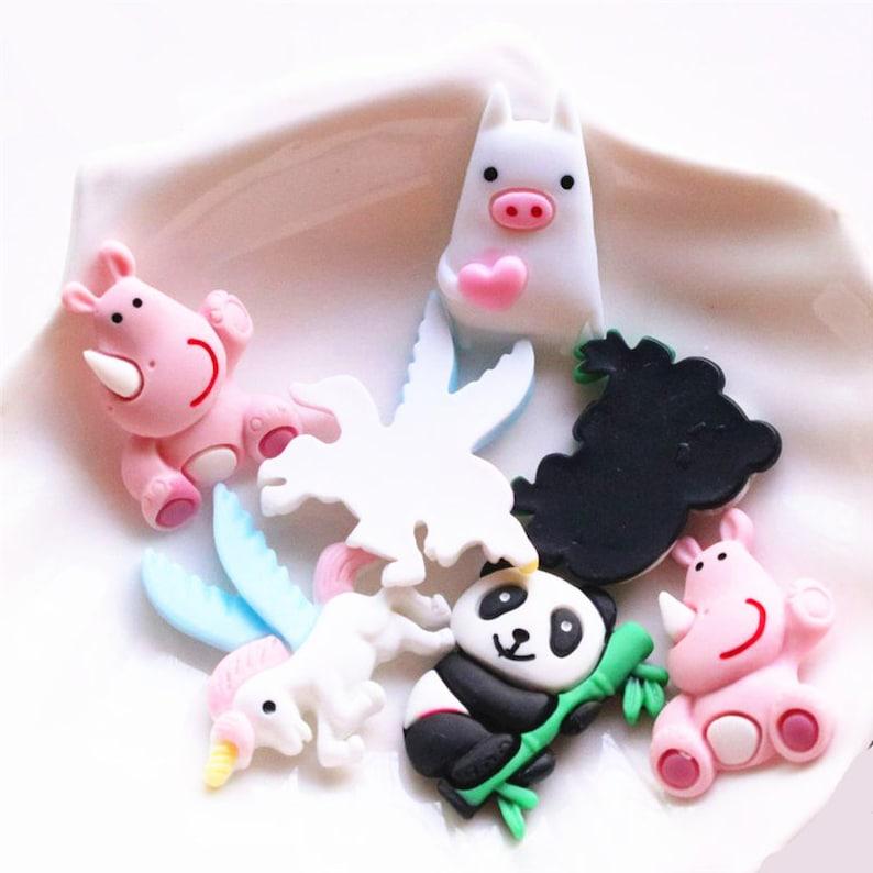 5102050pcs Cartoon Animal snaw panda pig Flatback Resin Cabochons Scrapbooking DIY Jewelry Craft Decoration Accessories