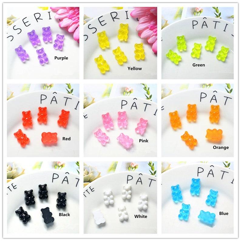 102050pcs Fashion Cute Resin Gummy Bear Pendant Charms for Woman Girls Cartoon Jewelry Findings DIY 12*18mm
