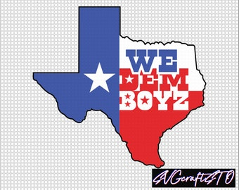 We Dem Boyz Cowboys Fan SVG, texas flage  SVG, DXF, eps, png, cricut and silhouette easy download