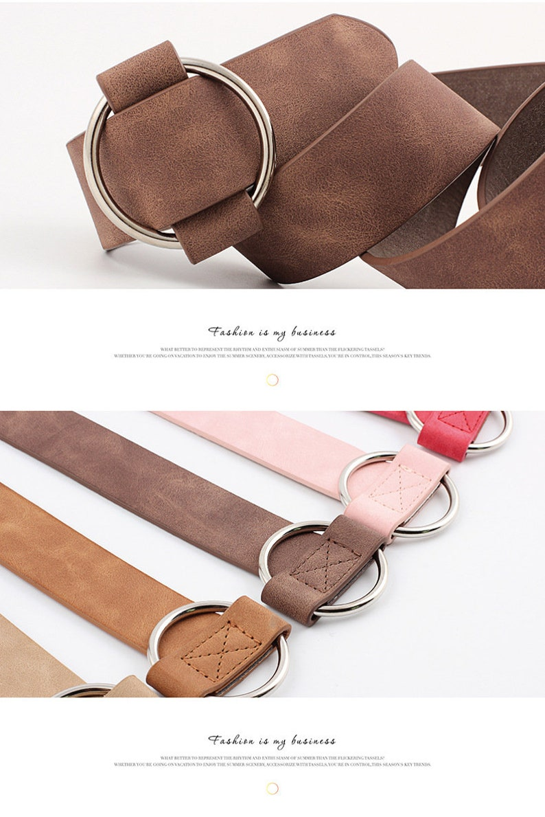 Leather belt women Belts for Jeans Birthday Gift Gift For Her Round buckle Beautiful belts for women Youth belts Belts for women