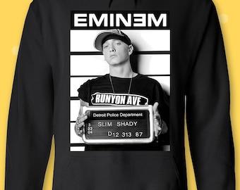 Sweatshirt Winter Fleece Casual Pullover Hoodie Iushfss Black Hoodie for Men Eminem-Slim-Shady-Marshall-Mathers-Mask-Logo