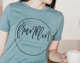 CLOSEOUT SALE | Franklin Tennessee Tee | Franklin TN T-shirt | Franklin Apparel