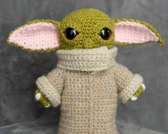 Amigurumi DIY Craft Kit - Star Wars - Baby Yoda - Grogu - Large, Crochet pattern digital PDF