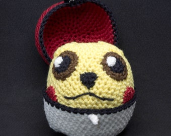 Amigurumi DIY Craft Kit - Pokemon - Pikachu Pokeball , Crochet pattern digital PDF