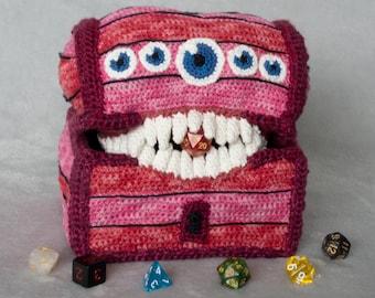 Crochet Amigurumi Dice Tray- Dungeons & Dragons - Mimic, Digital Pattern PDF