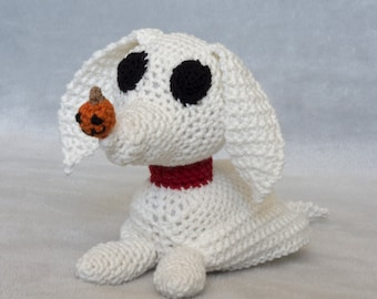 Amigurumi Crochet Toy DIY Craft Kit - Nightmare Before Christmas - Zero, Digital Pattern PDF