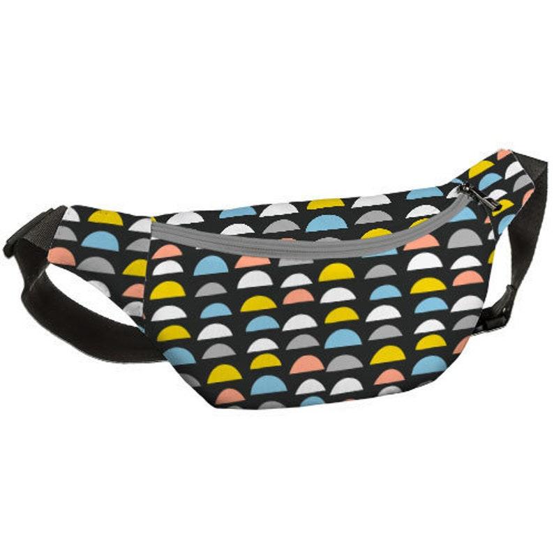 Waist Belt Pack White Belt Bag Small for Women Festival Bag Canvas Shell Belt Bag Belt Fanny Back Bag