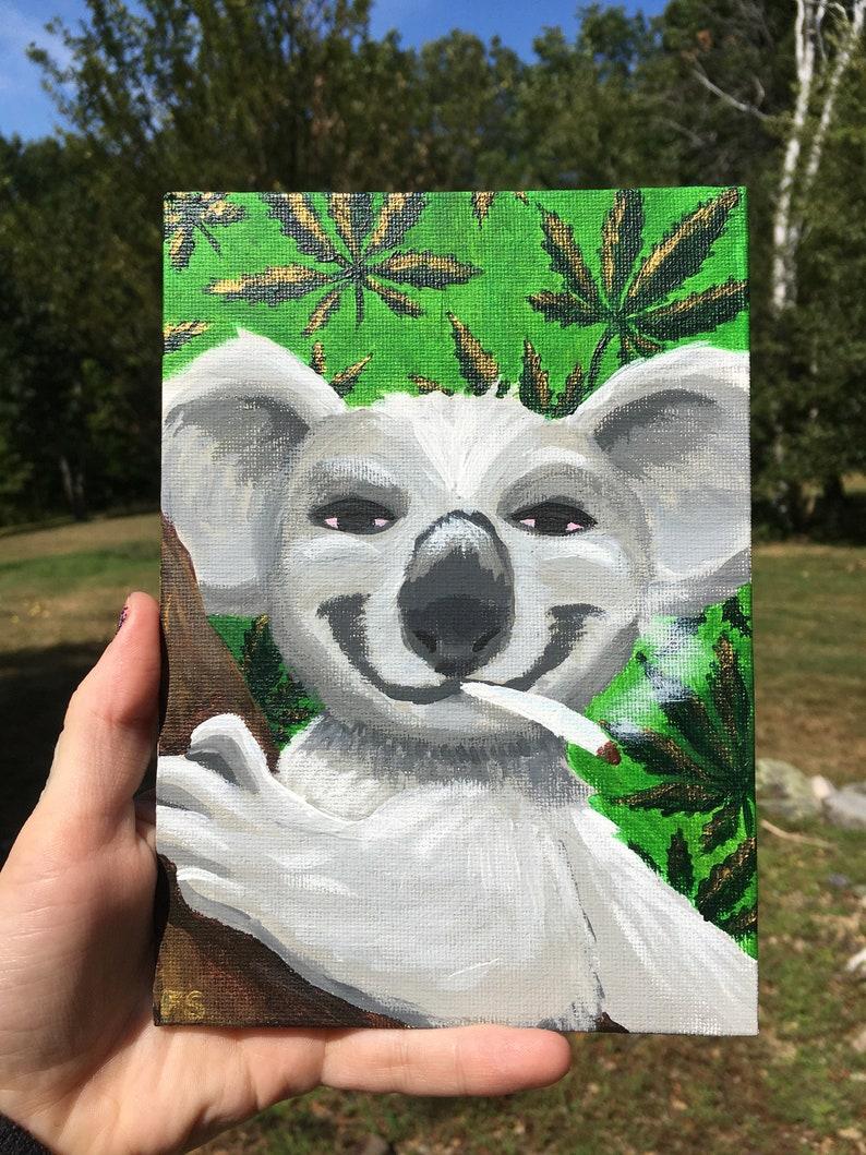 \u201cHigh Koalaty\u201d 5x7 Original Acrylic Painting