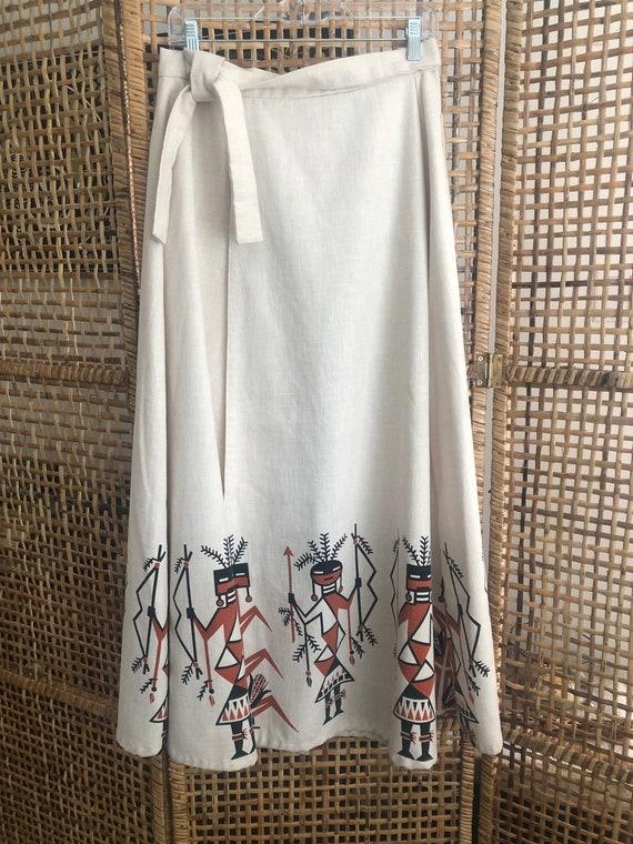 1970s Kachina wrap skirt