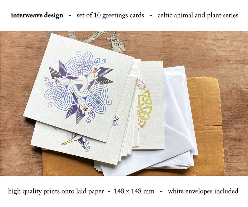 Set of 12 Celtic Greetings Cards image 0