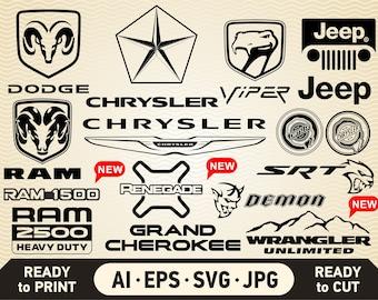 Hemi 2 Versions Brand Logo PNG SVG EPS jpeg pdf use for Cricut Silhouette two logos car engine gearhead mechanic