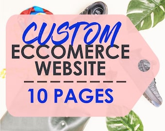 Custom Ecommerce Website Design - Professional Wordpress Website, Speed and SEO Optimised, Email & Contact Form Setup, 1 Year Free Support