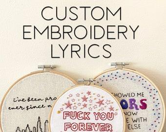 Custom Embroidery Lyrics