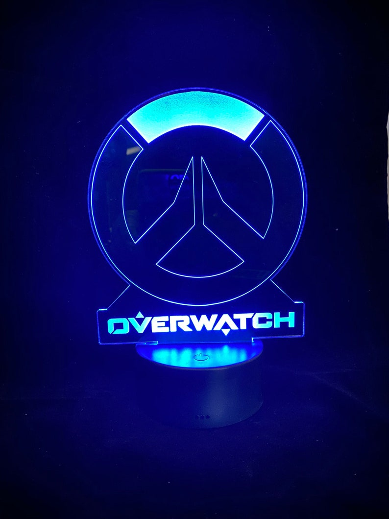 16. Overwatch LED Lamp - Personalized Gamer Night light
