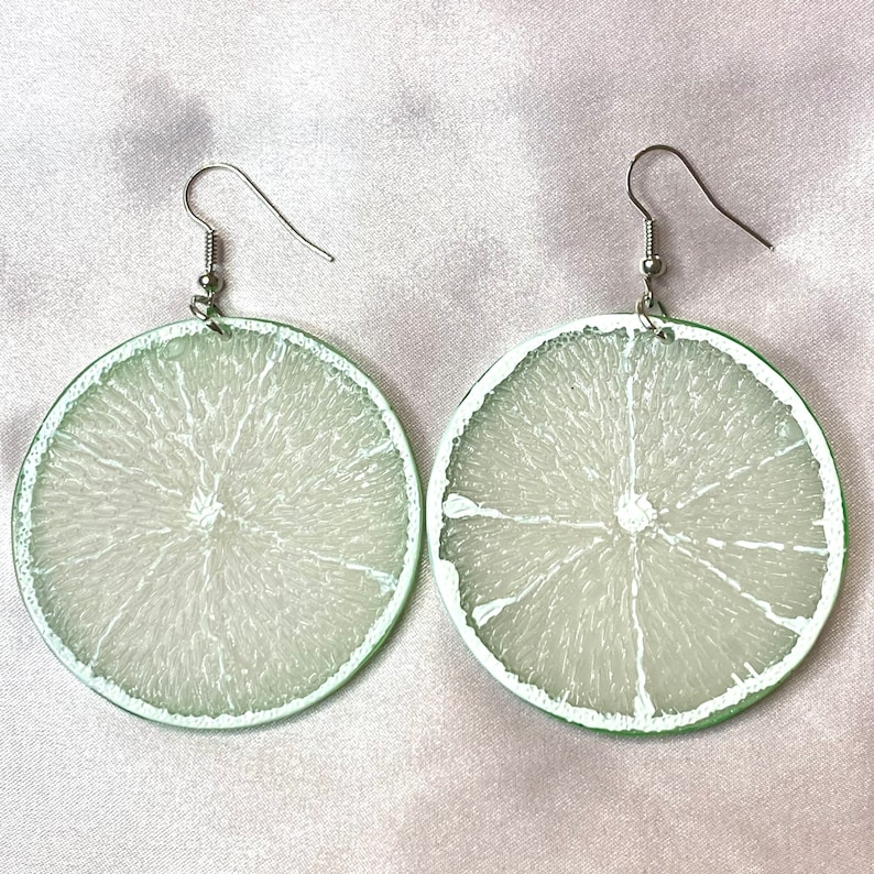 Lime and Orange Slice Earrings