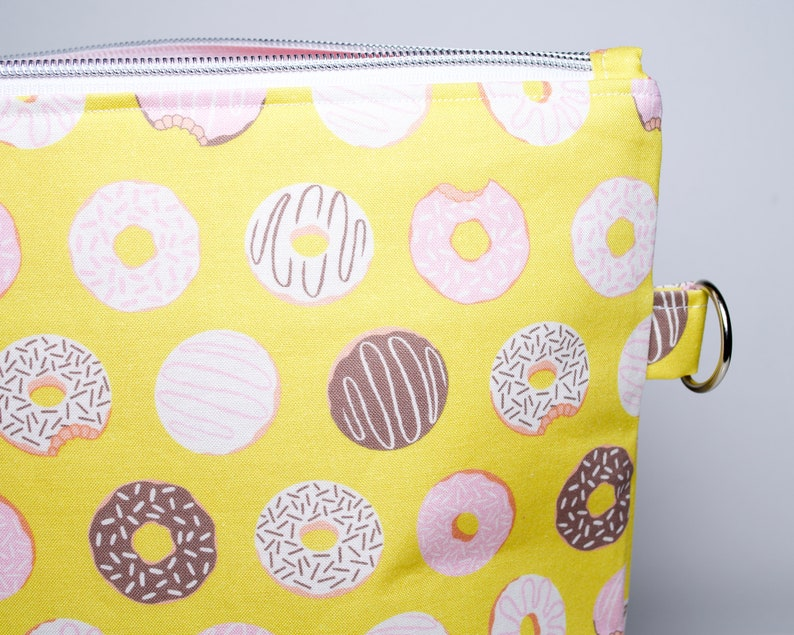 doughnut project bag donut project bag crochet or crafts Zipped project bag for knitting
