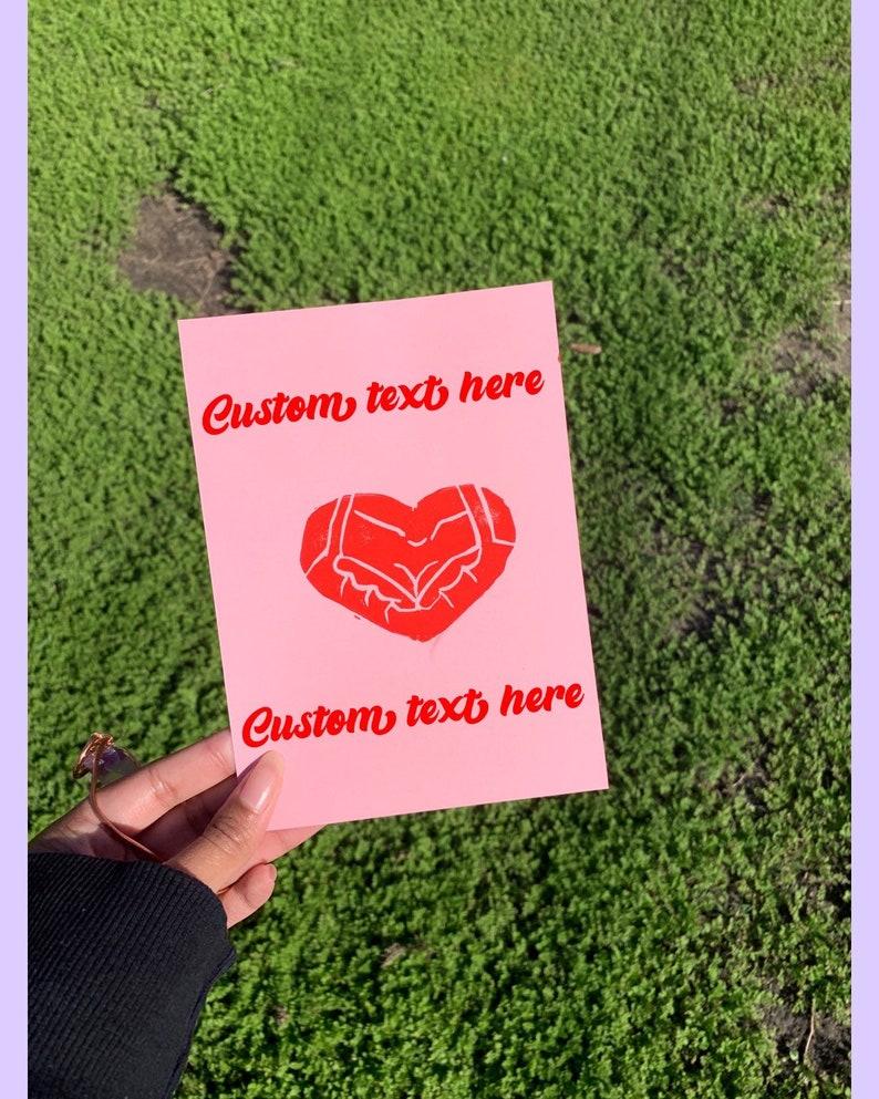 Boob Heart Valentines Card