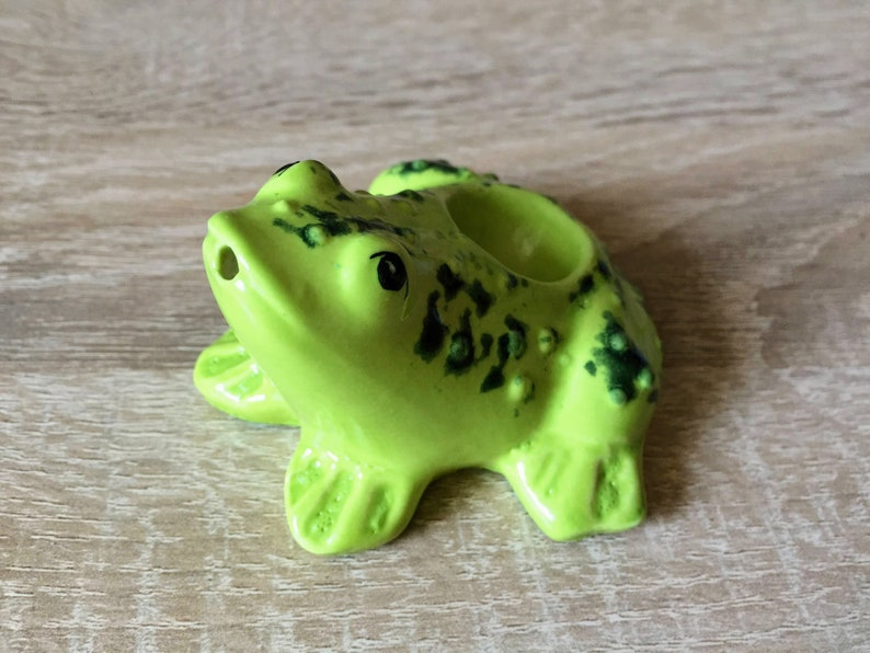 Unique Smoking Pipe Art Frog Handmade Ceramic Cute Pipes image 0