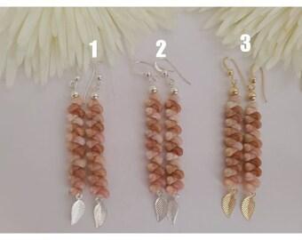 4 Momi /& Kahelelani two strand twisted shell earrings from Kauai  #315