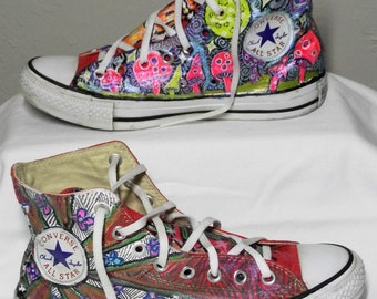 Funky converse shoes | Etsy
